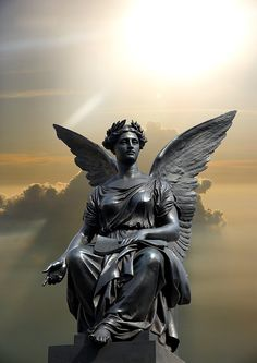 Statue of an angel ,Ireland - Jim Zuckerman Photography