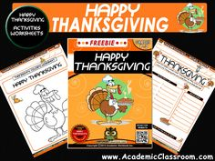 FREE THANKSGIVING NO PREP Variety Activities Pack, Alphabets,Math,Games