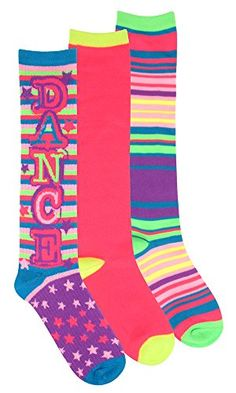 Just Dance! 3pk Knee High Sock #colorful #dance