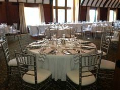 Silver Neutral Wedding Theme. Provided by Party Palace Wedding & Tent Rentals in Bloomington, IL.