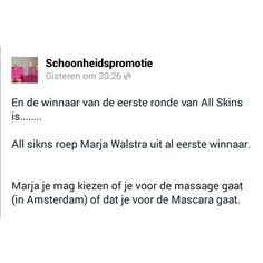 En de winnaar is..