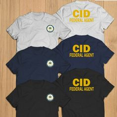 New CID US police Agent army Investigation department T-Shirt Tee Us Army Clothing, Army Clothes, Tour Merch, Mens Plain T Shirts, Army Soldier, Sheriff, Muscle Tees, Tee Design, Custom T