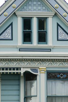Free stock photo by photoeverywhere of  Details of historic the painted ladies wooden house fronts, alamo square, san francisco - not property released