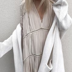 cabananewyork.com | ThePerfext Chalk Long Hooded Collette Sweater