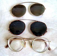 a7e9d13328f72 Vintage Giorgio Armani Round Eyeglasses Sunglasses 112 713 Unisex GA gold  Lennon Wire Rim Orig Clip On Brown Tortoise 2 Shades Lot Italy