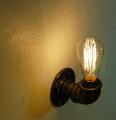 Edison+Wall+Sconce+steampunk+vintage+pipe+lamp+by+RoscaLights,+$95.00