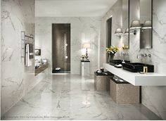 Nyhet hos Stonefactory.se Shining Calacatta 29.5x59 cm #kakel #klinker #marmor