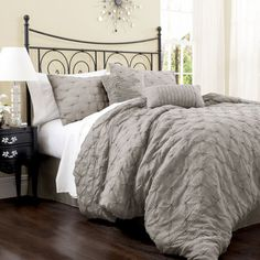 Lake Como Gray King Size Comforter Sets Lush Decor King Comforter Sets Bedding