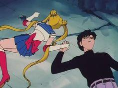 Sailormoon R. Sailor Moon and Darien. Sailor Pluto, Sailor Moom, Arte Sailor Moon, Sailor Moon Manga, Sailor Venus, Sailor Moon Crystal, Sailor Moon Aesthetic, Aesthetic Anime, Aesthetic Black