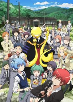 Ansatsu Kyoushitsu (aka Assassin Classroom): A humorous anime about a classroom full of misfits trying to assassinate their teacher...which is an alien!