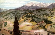Marshall Pass and Mt. Ouray near Salida Gunnison Colorado Rocky Mountains Vintage Postcard. $5