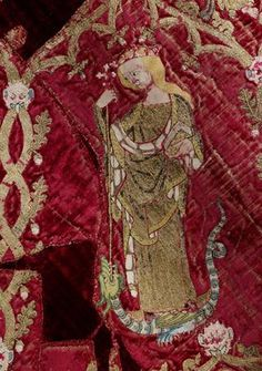 The Butler Bowdon Cope (detail), 1330 – 50, weaving Italy, embroidery England. Museum no. T.36-1955. © Victoria and Albert Museum, London