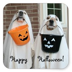 Golden Retriever Halloween Ghosts Stickers by #AugieDoggyStore. Sold three sheets to a customer in Durham, NC