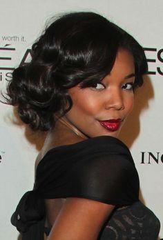 Gabrielle Union - Wedding Hairstyles for Medium Length Hair