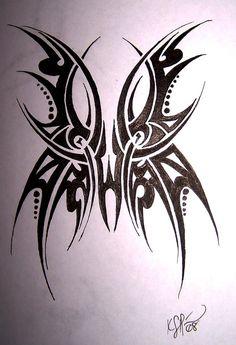 Tribal Butterfly Tattoos   Tribal Butterfly Tattoo by MikadosGirl on deviantART