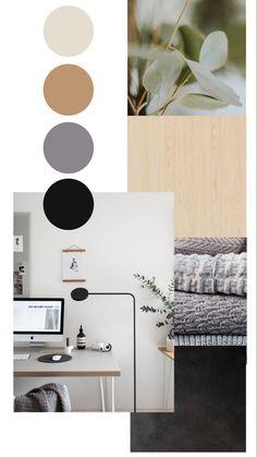 Earth Colour Palette, Bedroom Colour Palette, Design Palette, Mood Board Interior, Interior Styling, Scandinavian Interior Design, Paint Colors For Home, Home Room Design, Minimalist Home