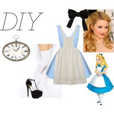 Alice In Wonderland Costume: DIY by swaggirl21 on Polyvore featuring ASOS, Péro, JustFabulous, Zentique, women's clothing, women's fashion, women, female, woman and misses