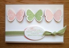 Butterfly prints and punch, Stampin Up