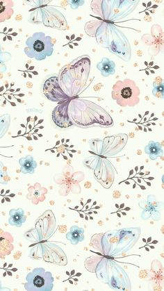 Phone Wallpapers HD Watercolor Butterfly - by BonTon TV - Free Backgrounds wallpapers (iPhone, smartphone) Her Artsy Wallpaper Iphone, Butterfly Wallpaper Iphone, Flower Background Wallpaper, Cute Wallpaper Backgrounds, Cellphone Wallpaper, Background Patterns, Watercolor Wallpaper Iphone, Butterfly Background, Wallpapers Android