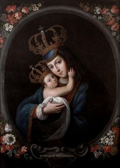 Refugium Peccatorum Mary as the Refuge of Sinners by the Mexican baroque painter José de Paez Source Blessed Mother Mary, Blessed Virgin Mary, Catholic Art, Religious Art, Colonial Art, Images Of Mary, Christian Artwork, Queen Of Heaven, Mama Mary
