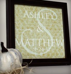 Printable wedding monogram gift with customization tutorial - now if only I owned and/or had a damn clue about photoshop
