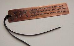 Bookmark Copper Bookmark Travel BookmarkWorld by HarrisonBond