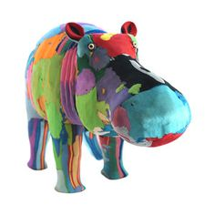 In an effort to not only clean up the coast but also provide jobs for locals, she formed a group to make awesome animal sculptures from recycled flip-flops found on the beach..Hippo Small, $24, now featured on Fab.