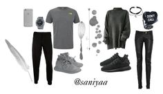 """ship Black & Grey"" by thalitasaniyaa on Polyvore featuring The North Face, Balmain, McQ by Alexander McQueen, adidas Originals, Sugarbaby, G-Shock and Native Union"