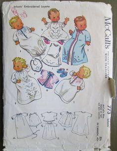 Vintage Sewing Pattern McCalls 773 Infants by Theoldwhitecupboard, $18.50