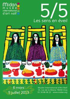 "Exposition ""5/5 les sens en éveil"" - Musée International d'Art Naïf - MIDAN - Vicq - Germain Pire"