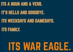 It's War Eagle