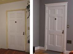 What a huge difference new door casing can make to a room!!