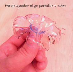 PAP DIY :velas flotantes de flor con reciclaje de botellas de plástico y aceite