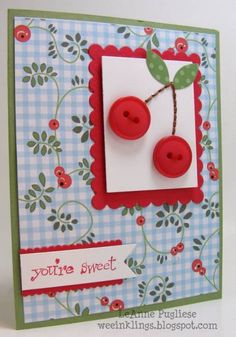 CAS158 Cherry Sweet by LeAnne Pugliese - Cards and Paper Crafts at Splitcoaststampers