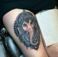 Gorgeous Ganesh tattoo!