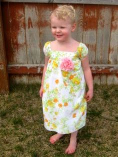Pumpkin Pie Crafts: Vintage Sheet Easter Dress using 2 different tutorials, linked.