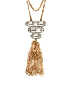 Lulu Frost Gold-Tone Elizabeth Tassel Necklace | Jewellery | Liberty.co.uk