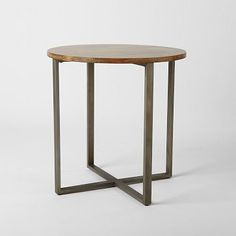 Rustic Round Counter Table #westelm