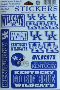 Stickers Set University of Kentucky Wildcats Decal Football NCAA Crafts Phone   | eBay