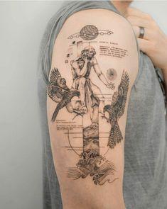 Moutain Tattoos, Greece Tattoo, Ancient Tattoo, Greek Mythology Tattoos, Sick Tattoo, Dream Tattoos, Man Stuff, Ancient Greece, Dress Code