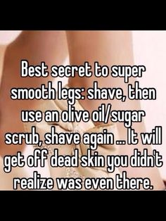 Did this today and my legs are so smooth and soft!!