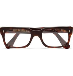 geeky and cool at the same time..   Cutler and GrossSquare Framed Tortoiseshell Optical Glasses