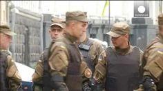 Manifestaciones en Ucrania por la muerte de varios miembros del partido radical Sector de Derechas