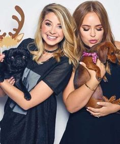 zoella and Tanya Burr