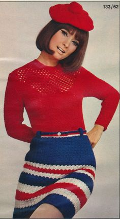 Love the skirt. The hat is a little much! Burda 1967