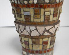 Mosaico maceta o Caddy juego de 3 por TheMosartStudio en Etsy