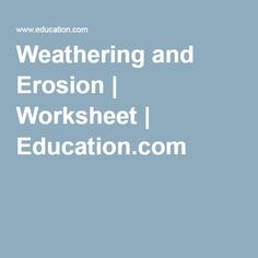 Bill Nye - Erosion - Worksheet, Answer Sheet, and Two ...