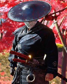 Samurai Art, Samurai Warrior, Oriental, Ghost Of Tsushima, Katana, Swords, Riding Helmets, Video Game, Character Design