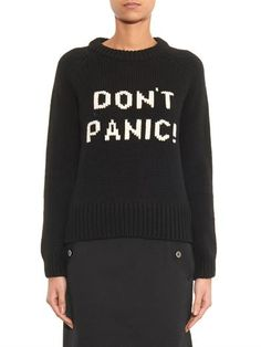 Don't Panic merino-wool sweater | Marc by Marc Jacobs | MATCHE...