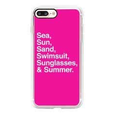Sea Sun Sand  Swimsuit Sunglasses and Summer - iPhone 7 Case, iPhone 7... ($40) ❤ liked on Polyvore featuring accessories, tech accessories, iphone case, iphone cover case, slim iphone case, apple iphone case and iphone cases